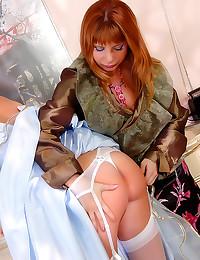 Girl in princess dress lesbia...