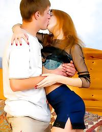 Redhead teen GF great sex
