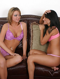 Dykeclimbs on her girlfriend's strap-on