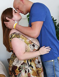 Busty Redhead BBW Smothers Thick Cock