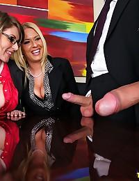 Riley Tastes Partners Cock