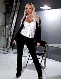 Boner making blonde pornstar