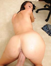 Slender Brunette Shows Her Tight Twat
