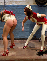 A kinky lesbian nurse takes advantage of her assistant with extremely intense lesbian bdsm and hardcore medical fetish sex!