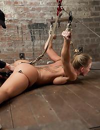 Kinky Tattooed Blonde Enjoys Extreme Bondage