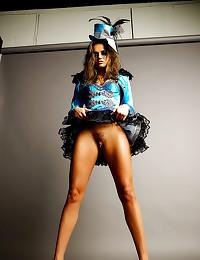 Tori Black corset and hairy p...