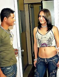 Shemale man girl threesome