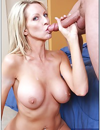 Milf gets a cock in her pussy