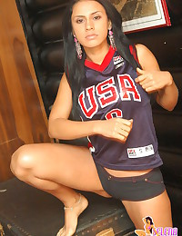 Selena Spice - She's wearing a basketball jersey and modeling hotness