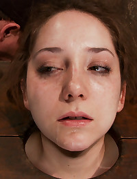 Bound redhead face fucked