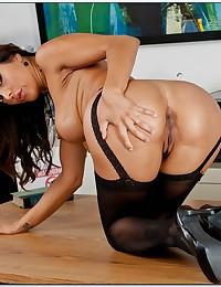 Office Babe Francesca Strips Down