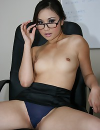 Glasses on Asian business babe