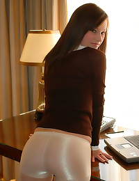 Hotel room hottie in sweater