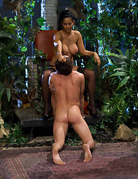 Submissive Man Dominated By Horny Babe