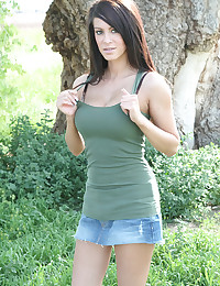 Talia Shepard - Sweet young girl goes out into public park for some shameless flashing