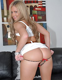 Young blonde in sexy panties