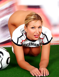 Big tits blonde soccer babe