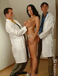 Two doctors fuck hottie