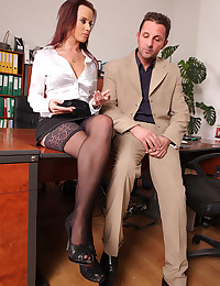 Workplace affair with busty girl