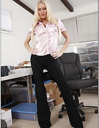 Satin blouse milf pounded