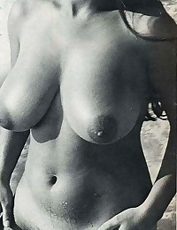 Retro hairy sixties chicks posing in the nude
