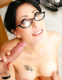 Sexy teacher in glasses fucke...
