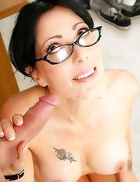 Sexy teacher in glasses fucke...