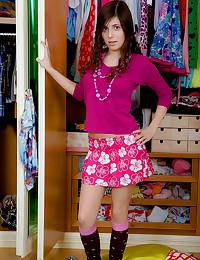 Skirt and socks teen anal