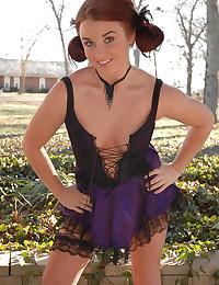 Busty goth babe wears her slu...