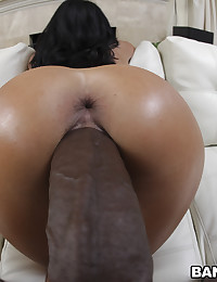Thick black dick stretching her
