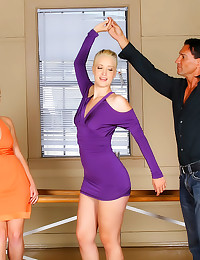 Dance instructor fucks clothe...
