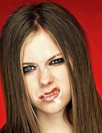 See how naked Avril Lavigne getting facials from her fans!