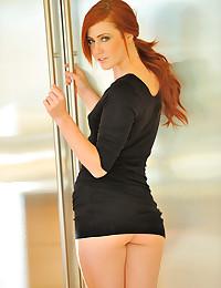 Super hot and slender redhead