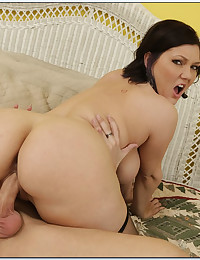 Curvy babe is cock slut