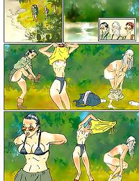 Girls frolic in fun comic