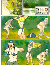 Girls frolic in fun comic