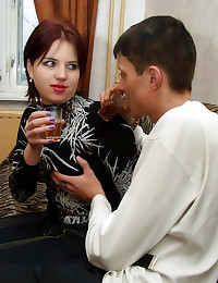 Drunk redhead Russian fucked ...