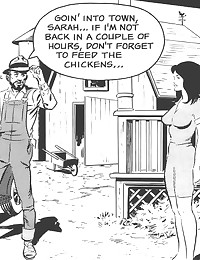 Outdoor blowjob in comic