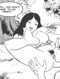 Outdoor blowjob in comic