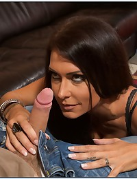 Sultry Brunette Milf Covered In Cum