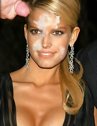 here you can find not only nude photos of Jessica Simpson but also see how she gettting cum on her face!