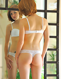 Teen beauty in panties