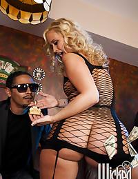 Big black cock for hot blonde