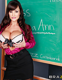Lisa Ann volunteers to teach men in federal prison, so they can get their diplomas, and get a second chance when they get out. She also doesn't realize that dressing like a skank around men who haven't seen a women in God knows how long will get fucked th