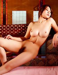 Perky round Asian boobs
