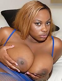 Ebony?s Monster Tits Get FUcked