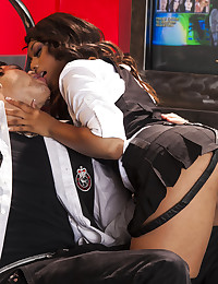 Sexy Black Babe Getting Jizzed On
