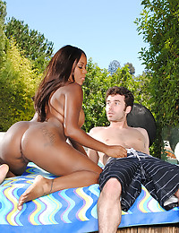 Giving black chick a big dick