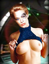 Take a look at Jeri Ryan's tits - no wonder