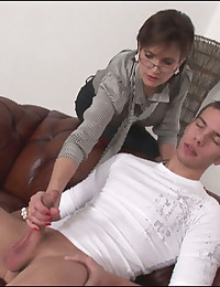 British milf gets cumload on tits